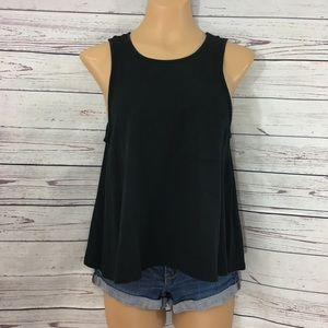 Converse Front Pocket Relaxed Fit Black Tank